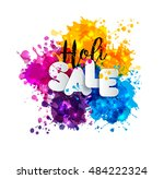 holi spring festival of colors... | Shutterstock .eps vector #484222324