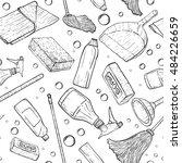 vector doodle pattern of...   Shutterstock .eps vector #484226659