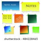 blank note paper. vector