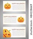 halloween background with... | Shutterstock .eps vector #484228669