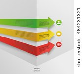 3d arrows around the corner... | Shutterstock .eps vector #484231321