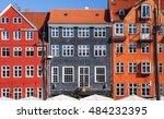 colored houses  copenhagen ... | Shutterstock . vector #484232395