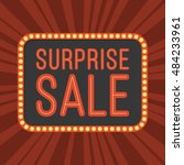 neon text surprise sale and... | Shutterstock .eps vector #484233961