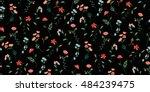 trendy seamless floral pattern...   Shutterstock .eps vector #484239475