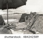 a day at the beach | Shutterstock . vector #484242589