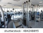 equipment and machines at the... | Shutterstock . vector #484248895
