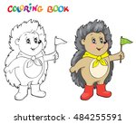 coloring book or page with... | Shutterstock .eps vector #484255591