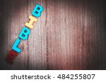 bible on the wooden background | Shutterstock . vector #484255807