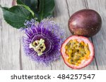 Passion Fruit With Blossom On A ...