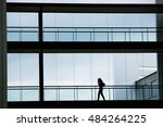 silhouette view of young... | Shutterstock . vector #484264225