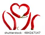 Chili Peppers In Heart Shape...