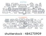 flat vector banners. shopping.... | Shutterstock .eps vector #484270909