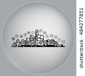 smart sity icon. collection... | Shutterstock .eps vector #484277851