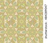 elegant seamless pattern with... | Shutterstock .eps vector #484289047