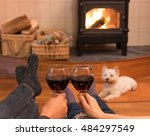 Cosy Couple By The Fire With...