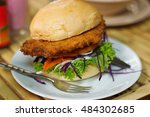 vegetarian burger made from...