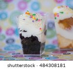 Closeup Of Two Mini Cakes In...