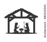 traditional christian scene in... | Shutterstock .eps vector #484310341