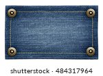 worn blue jeans tag texture.... | Shutterstock . vector #484317964