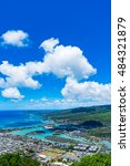 view of hawaii kai  a largely... | Shutterstock . vector #484321879