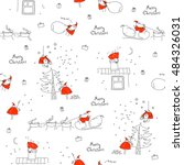seamless pattern merry... | Shutterstock .eps vector #484326031