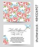 vintage delicate invitation... | Shutterstock .eps vector #484326907