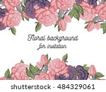 abstract flower background with ... | Shutterstock .eps vector #484329061