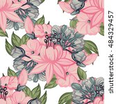 abstract elegance seamless... | Shutterstock .eps vector #484329457