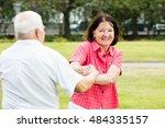 smiling senior couple having...   Shutterstock . vector #484335157