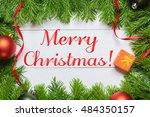 merry christmas concept.... | Shutterstock . vector #484350157