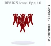 group of people icon  friends... | Shutterstock .eps vector #484352041