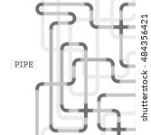 the elements of the pipeline.... | Shutterstock .eps vector #484356421