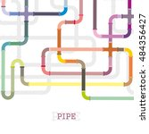 the elements of the pipeline.... | Shutterstock .eps vector #484356427