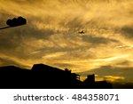 silhouette of new taipei city... | Shutterstock . vector #484358071