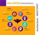halloween concept infographics. ... | Shutterstock .eps vector #484373947
