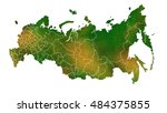 russia detailed country map... | Shutterstock . vector #484375855