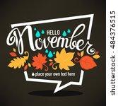 Hello November  Bright Fall...