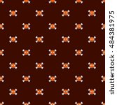 seamless halloween pattern.... | Shutterstock .eps vector #484381975
