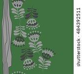 seamless  striped vertical  ... | Shutterstock . vector #484392511