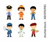 kids vector illustration... | Shutterstock .eps vector #484396981