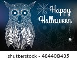 halloween night  blurred... | Shutterstock .eps vector #484408435