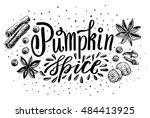 hand lettering pumpkin spice....
