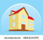 home protection shield flat... | Shutterstock .eps vector #484424395