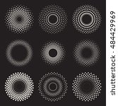 vector radial gradient halftone ... | Shutterstock .eps vector #484429969