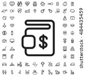 dollar sign icon illustration... | Shutterstock .eps vector #484435459