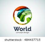 earth logo template  abstract... | Shutterstock . vector #484437715
