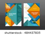 colorful geometric a4 business... | Shutterstock . vector #484437835