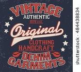 denim typography  t shirt stamp ... | Shutterstock . vector #484438834