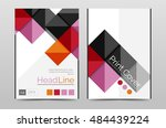 geometric brochure front page ... | Shutterstock . vector #484439224
