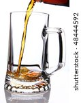 beer mug being filled from a... | Shutterstock . vector #48444592